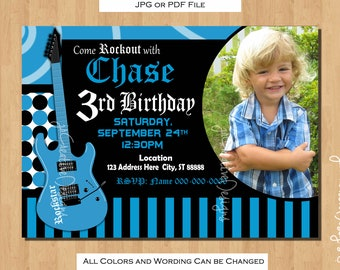 Rockstar party Rockstar Invitation rock star invitation rockstar birthday music invitation rock star birthday rock star party rockstar boy
