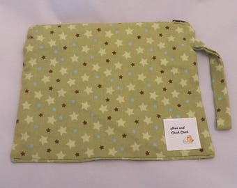 Small Wetbag- Green Stars- 2006