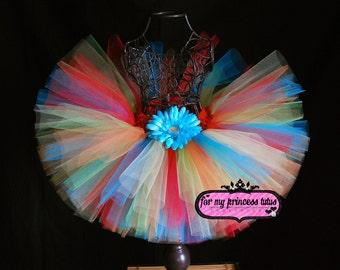 Skittles Tutu - newborn tutu, infant tutu, toddler tutu, rainbow tutu, candyland tutu, birthday tutu, baby shower tutu, pageant tutu, tutu