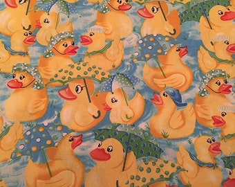 Duck Rubber Duck Rainy Day Yellow Duck Umbrellas Children Nursery Babies BTY