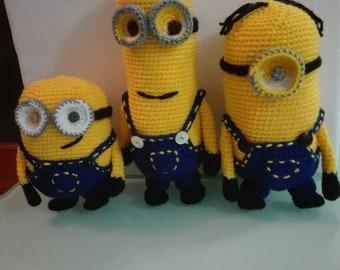 I Amigurumi crochet minions. Plush