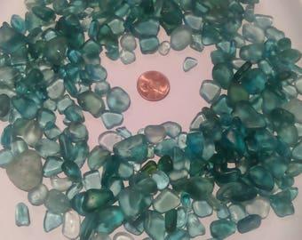 Aqua sea glass
