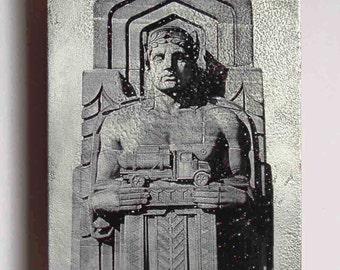 Metal art photo, Cleveland Bridge Guardian 5x7