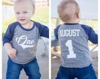 Baseball birthday shirt, boys birthday shirt,  baseball cake smash shirt, cake smash shirt, 1st birthday shirt, first birthday shirt