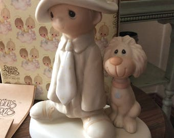 Vintage Enesco / 1980 PRECIOUS MOMENTS COLLECTION / To a Special Dad / Porcelain Figurine