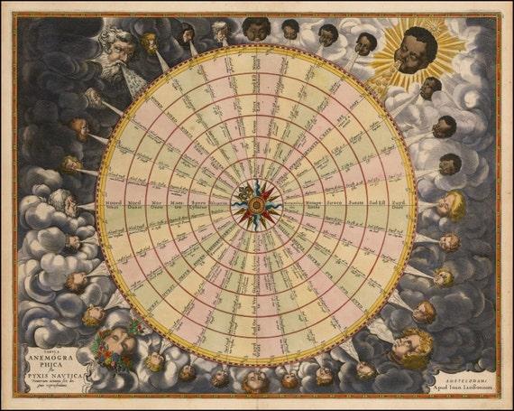 wind rose antique world maps old world map illustration