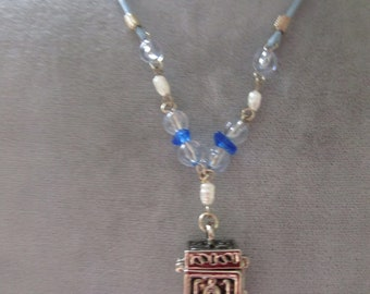 "One  16"" Cord Necklace w/ Box Charm"