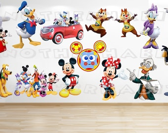 Mickey Mouse & Minnie Mouse Clubhouse Wall Decal Room Decor