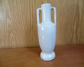 Vintage Frankoma Pottery Bud Vase, White 20