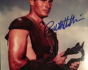 CHARLTON HESTON Hand-Signed Ben Hur Autographed Photograph with COA