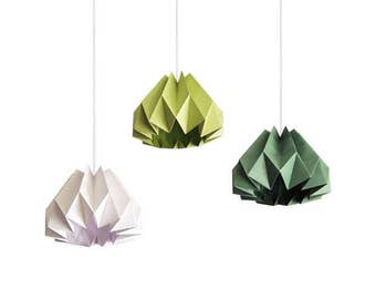 3 Pumpkin / Origami Paper Lamp Shade - Color Choices