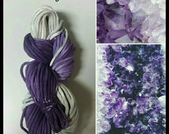 Amethyst hand-dyed cotton yarn