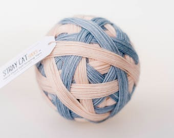 Jemima - vibrant hand dyed self striping sock yarn