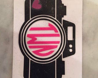 Camera photographer monogram decal