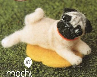 Miniature Pug Needle Felting Kit