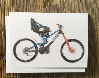 Cycling Card, Martyn Ashton, Canyon Sender, Mountain Bike Card, Bike Illustration
