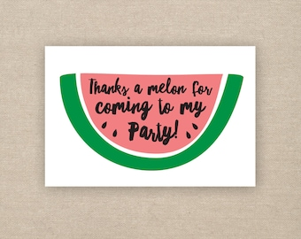 watermelon party favor tags - printable