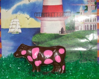 3D Chocolate Polka Dotted Cow