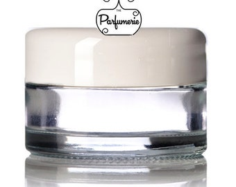 Set of 12: 1/2 Ounce GLASS Jar For Cosmetic Makeup Lotion Beauty Supplies WHOLESALE Empty Container Private Label