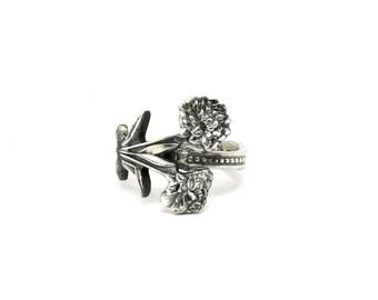 Carnation ring, Flowers of the Gods ring, spoon ring,   flower ring,