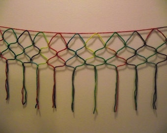 Colorful Macrame wall or window hanging