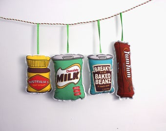 Australian food ornament: Christmas ornament set