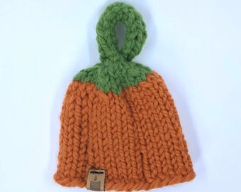 Ready to ship // Pumpkin Patch Hat // Two sizes // baby pumpkin hat