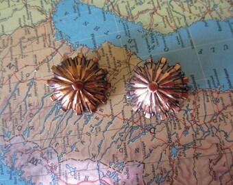Renoir Copper Round Clip On Earrings