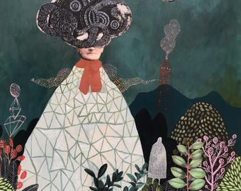 she turned herself into a mountain 1- giclee print
