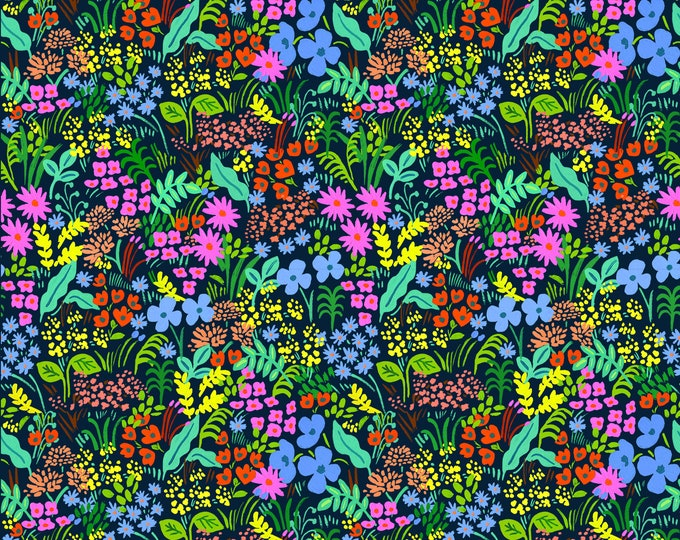 PRESALE: Meadow (navy fabric) from English Garden by Rifle Paper Co.
