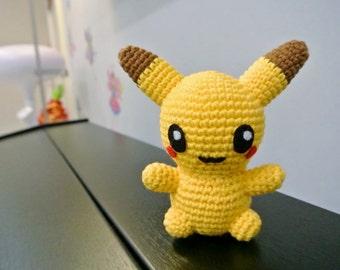 Crochet Pokemon Pikachu Amigurumi - Handmade Crochet Amigurumi Toy Doll - Pikachu Crochet - Amigurumi Pikachu