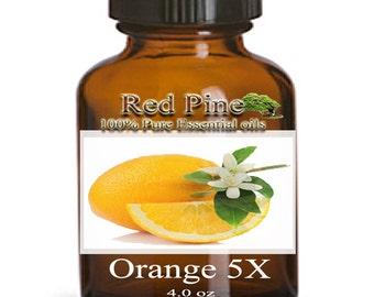 Orange 5x Essential Oil - Citrus sinenis - 100% Pure Therapeutic Grade