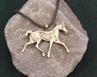 Pictish Horse Pendant in Bronze