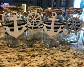 Wooden Anchor Cut Out, Helm Cut Out, Boat Wheel, Anchor Wedding Favors, Wooden Shapes, Boat Decor, Beach House Decor, Ship Wheel Decoration