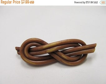 On Sale Vintage Brown Spaghetti Plastic Pin Item K # 1402