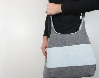 hobo bag in color block style. Design your own large purse or small handbag, crossbody bag or shoulder purse.