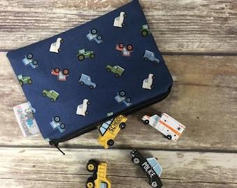 Reusable Snack Bag, Reusable Zipper Bag, Reusable Sandwich Bag, Zipper Pouch, Reusable, Tractor Snack Bag, Lunch Bag, Reusable Bag
