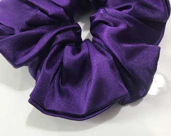 Purple Satin Scrunchie- Hair Accessories- Boho- Hippi Style