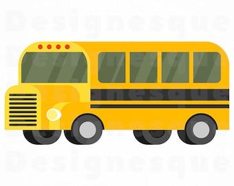 School Bus SVG, School Bus Clipart, School Bus Files for Cricut, School Bus Cut Files For Silhouette, School Bus Dxf, Png, Eps, Vector