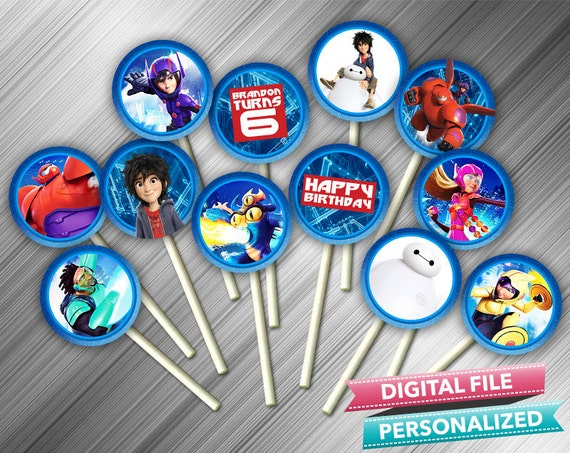 Big Hero 6 Cupcake Toppers