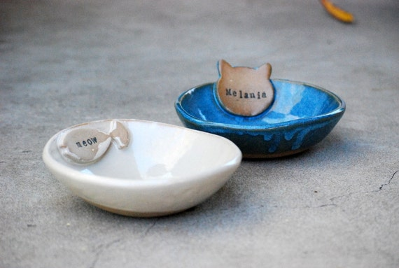 Personalized Cat Bowls Dog Dishes Small Dog