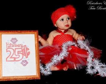 Be My Valentine II - Tutu Dress sizes  NB-3m, 3-6m, 6-9m, 9-12m, 12-18m, 2t, 3t, 4t, 5t
