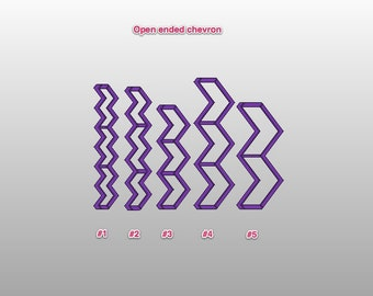 Open Ended Chevron - Individual Cutters