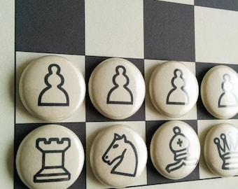 coworker gifts, magnetic chess set, chess sets, chess boards, chess gifts, fridge magnet chess set, chess players, board game, strategy game
