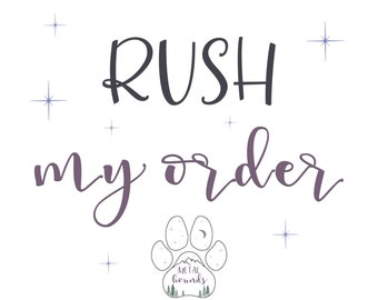 Rush My Order, Dog Tags, Dog Tags for Dogs, Pet ID Tags, Metal Hounds