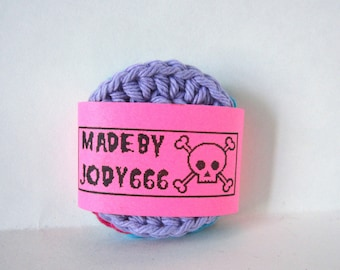 Set of 3 Crochet Face Scrubbies - Makeup Removers - 100% Cotton Facial Pads - Reusable - Facial Scrubbies - Cotton Scrubbies - Cotton Round