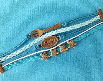 Ariel bracelet - multi-strand - Kiss the Girl - Dinglehopper - Starfish - Disney Cruise Fish Extender Gift - Nautical FE Gift