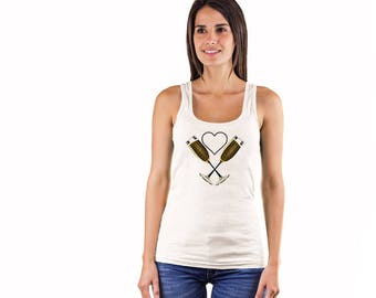 A Heart for Champagne Ladies' Tank