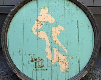 Whidbey Island, WA Map Barrel End
