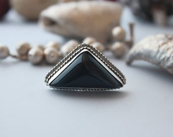 Gorgeous Black Onyx Ring set in Sterling silver